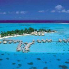 Пляж на острове Таити