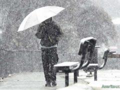 В Жабляке неожиданно выпал снег в апреле