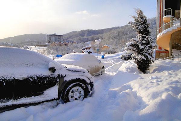 Снег Altıağac Cənnət Bağı