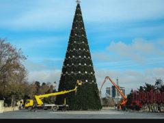 Самая высокая Новогодняя Елка в Баку