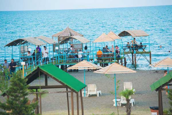Пляж отеля Palmalife Lankaran Resort